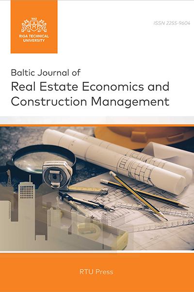 Baltic Journal of Real Estate Economics and Construction Management