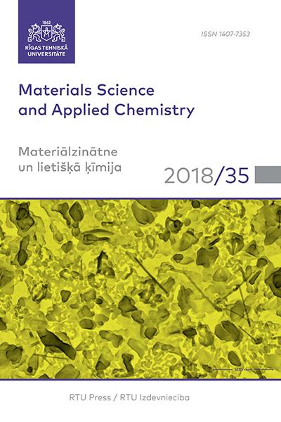 Materials Sciences and Applied Chemistry/ Materiālzinātne un lietišķā ķīmija