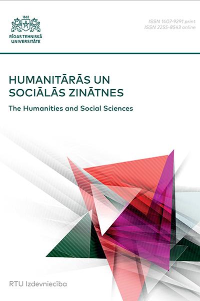 The Humanities and Social Sciences / Humanitārās un sociālās zinātnes