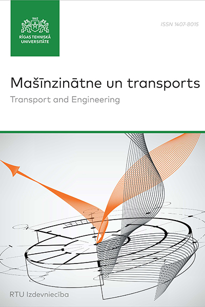 Transport and Engineering / Mašīnzinātne un transports