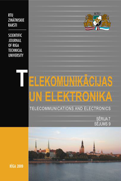Telecommunications and Electronics / Telekomunikācijas un elektronika